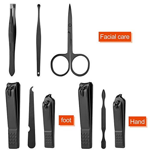 Manicure Set Personal care - Nail Clipper Kit Luxury Manicure 8 In 1 Professional Pedicure Set Grooming kit Gift for Men Husband Boyfriend Lover Parents Women Elder Patient Nail Care 7