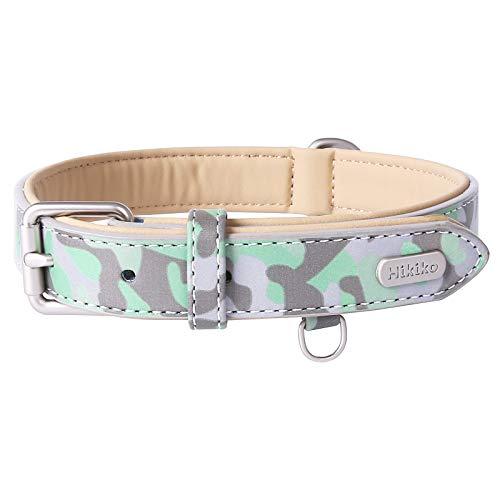 Personalized Leather Dog Collar Soft Padded Medium Large Dogs Hikiko