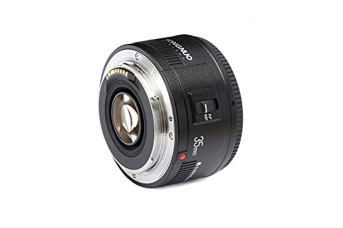 YONGNUO YN35mm F2 Lens 1:2 AF/MF Wide-Angle Fixed/Prime Auto Focus Lens for Canon EF Mount EOS Camera