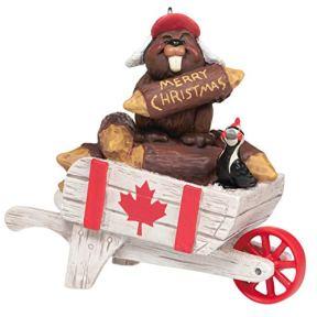 Hallmark-Keepsake-Christmas-Ornament-2020-Christmas-in-Canada-Beaver-on-Wheelbarrow