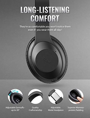 Tribit QuietPlus Active Noise Cancelling Headphones 5- humbaa.com