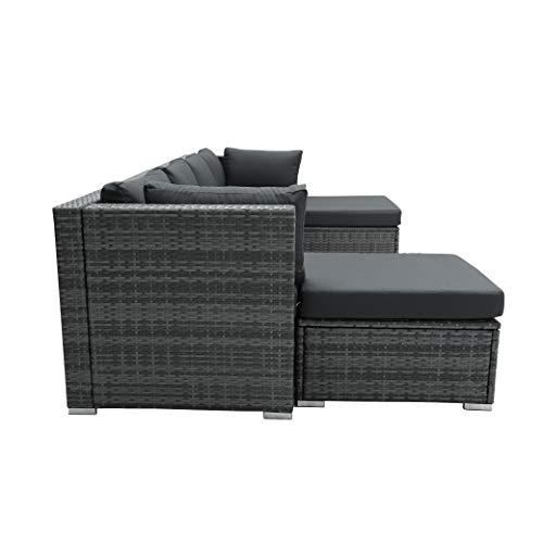 Nicesoul 118 L Pe Rattan Patio, Gray Wicker Patio Furniture
