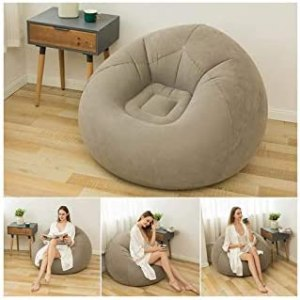 ZHANGLI Bean Bag Chair – Foldable Flocking Inflatable Sofa – Living Room Outdoor Bean Bag Chair Lounger Ultra Soft Inflatable Lazy Sofa Couch