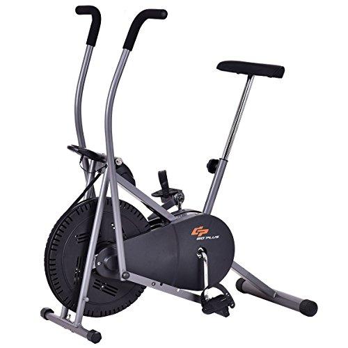 Goplus 2 in 1 Elliptical Fan Bike Dual...