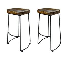 19ed678ddf8c7 VILAVITA Wood 30″ High Backless Bar Stools