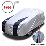 KAKIT SUV Cover Snowproof Waterproof All Weather, Polyester Sun UV Protection Windproof Universal Outdoor Car Cover for SUV with Driver Door Zipper Fits up to 204''