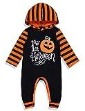 Halloween Baby Boy Girl Outfit My First Halloween Pumpkin Hoodie Romper Bodysuit One-Piece Jumpsuit 0-3 Months
