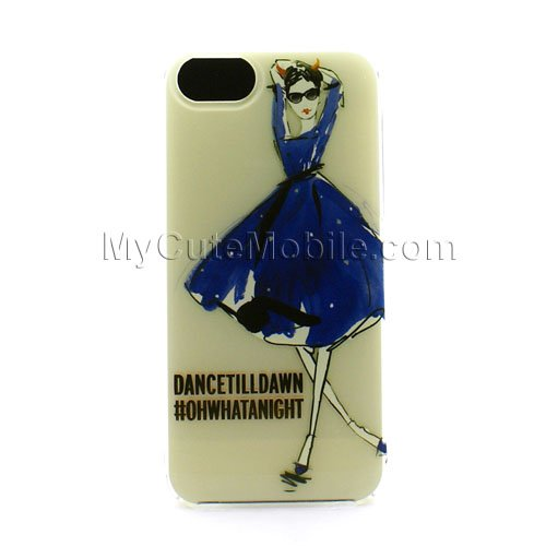 Kate Spade New York Naughty Girl Resin Phone Case for the iPhone 5 and 5s Cellphone Case Multi One Size