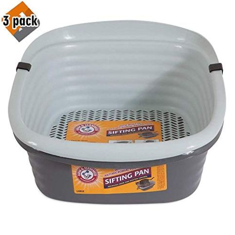 Pet-Mate-42036-Arm-Hammer-Large-Sifting-Litter-Pan-3-Pack