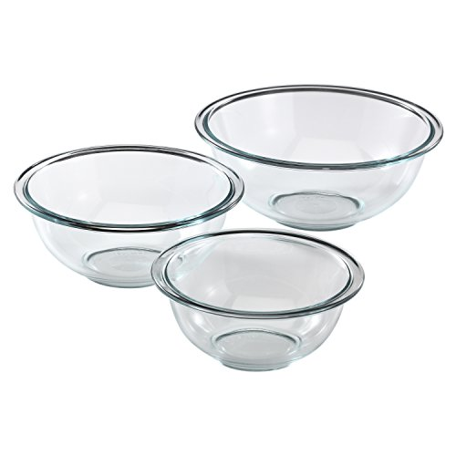 Pyrex Prepware 3-Piece Glass Mixing Bowl Set