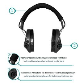 Sordin-Supreme-PRO-X-Active-Hearing-Protection-Safety-Ear-Muffs-with-Gel-Seals-Black-Canvas-Headband-and-Cups