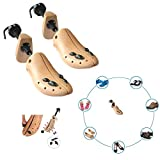 Cedar Wood Two Way Professional Shoes Stretcher for Men or Women Shoes (One Pair Large Size 9-13)