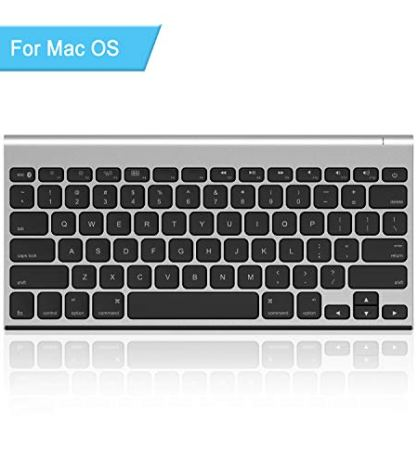 3de0b629967 Rechargeable Bluetooth Keyboard for Mac OS, Jelly Comb Ultra Compact Mini Wireless  Keyboard Compatible for