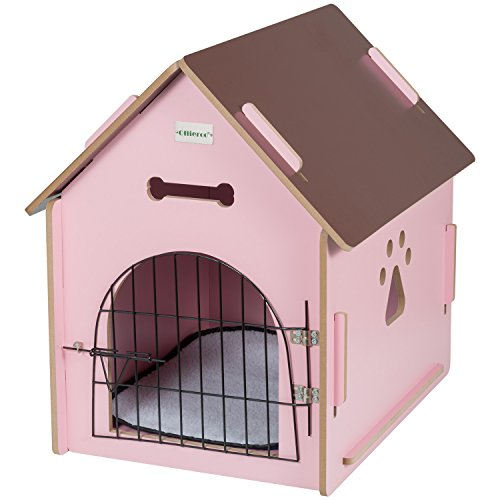 Ollieroo Dog House Crate Wooden Kennel Indoor Condo For