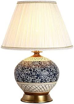 Diaod Chinese Ceramic Table Lamp Bedside Lamp Blue Table Lamps For The Bedroom For Living Room Vintage Bedroom Lamp Home Decor Amazon Co Uk Kitchen Home