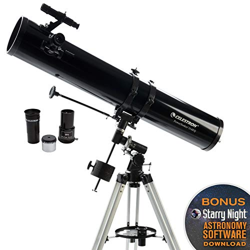 Celestron 2104360mm PowerSeeker Telescopio Ecuatorial, 114EQ newtonianos, Negro
