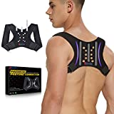 XNATURE Posture Corrector Three bar Memory Fiber Reinforced Back Support/Breathable-Adjustable Concealed Back Straightener/Lumbar Support,Used to Relieve Upper Back Pain/Suitable for Men and Women