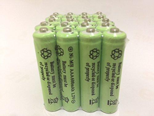 Solar Light AAA Ni-Mh 600mAh Rechargable Batteries ( Pack of 20)