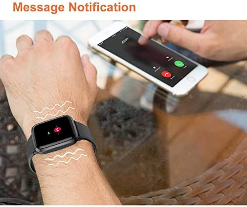 YAMAY Smart Watch 2020 Ver. Watches for Men Women Fitness Tracker Blood Pressure Monitor Blood Oxygen Meter Heart Rate Monitor IP68 Waterproof, Smartwatch Compatible with iPhone Samsung Android Phones 5
