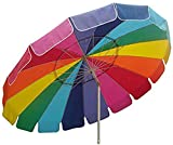 Impact Canopy 8' Beach Umbrella, UV Protected, Vented, Tilt Pole, Sand...