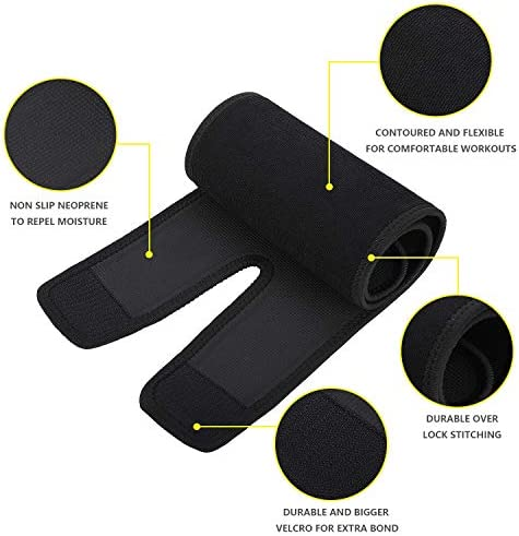 FEOAMO 4 Pack Arm and Thigh Trimmers Sauna Sweat Bands Wraps Arm Trimmers Sleeves Leg for Women Weight Loss, Improve Sweating & Circulation 5
