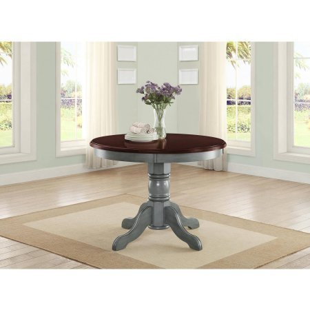 42' Round Table Top, Easily Accommodates Seating for 4, Multi-Step, Blue