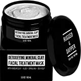 RUGGED & DAPPER - Face Mask for Men - 5.5 oz - Detoxifying Facial Treatment with Kaolin Clay & Aloe - Purifying & Deep Cleansing Formula Helps with Blackheads & Acne – Natural & Organic Ingredients
