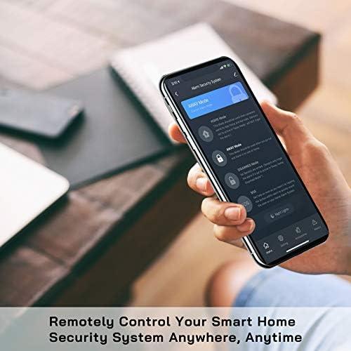 WiFi Door Alarm System(2nd Gen), Smart Home Alarm Security System DIY, with Phone Alert, 8 Pieces-Kit (Alarm Siren, Door Window Sensors, Remotes), Work with Alexa, for House, Apartment, by tolviviov
