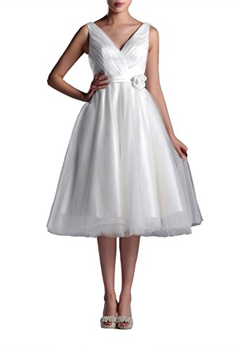"""41uPcugXCQL Our 99Gown slogan is """"Gown only $99"""", high quality and lower price dress for every lady is our goal! It's Standard Size Fitted dress, First make sure you choose the size No.# by Size Chart. Choose the size No.# by Bust in first, then waist. A line don't need to consider HIPS. Simple modest dress, handmade crafts folds, lifelike handmade flower,each petal is so elegant.Fluffy skirts, casual, elegant, simple wedding gown, travel wedding or beach wedding, no matter winter or summer. If you like, you can also add your own warm and shiny embellishment."""