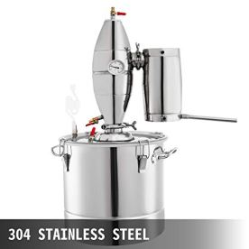 VEVOR-50L-132Gal-Water-Alcohol-Distiller-304-Stainless-Steel-Moonshine-Wine-Making-Boiler-Home-Kit-with-Thermometer-for-Whiskey-Brandy-Essential-Oils-Sliver