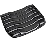 G-PLUS Windshield Louver Fit for 2009-2019 Nissan 370Z 3.7L Rear Window Louvers Cover Sun Shade ABS Matte Black 2010 2011 2012 2013 2014 2015 2016