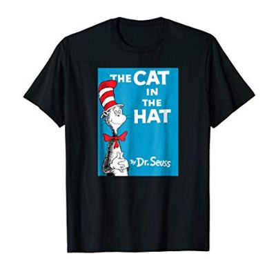 Dr. Seuss The Cat in the Hat Book Cover T-shirt