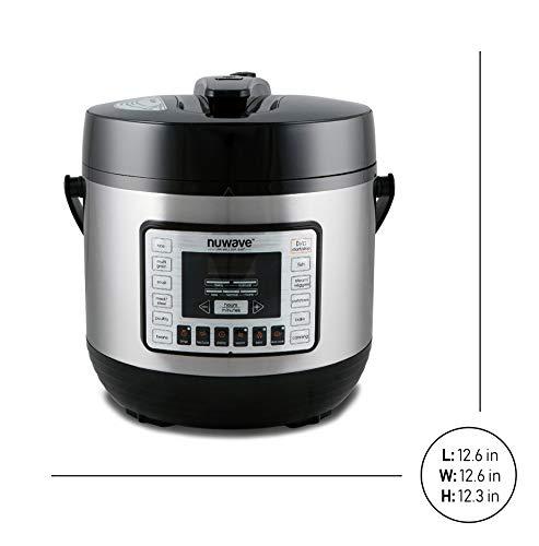 Nu Wave 33101 Nutri-Pot Pressure Cooker, 6 quart, Black