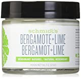 Schmidt's Natural Deodorant - Bergamot and Lime, 2 ounces. Jar for Women and Men