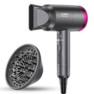 Ionic Hair Dryer, CONFU 1600W Negative Ion Hair Dryer, Fast Drying Lightweight Blow Dryer, 3 Heat Settings & Infinity… 5