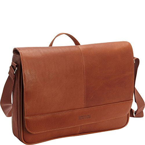 Kenneth Cole Reaction Come Bag Soon Leather 15.6' Messenger Laptop, Cognac One Size