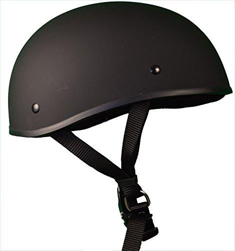 Bikerhelmets.com- Micro SlimMotorcycle Helmet -DOT Approved Ultra Low Profile Beanie - Flat Black No Peak - Large