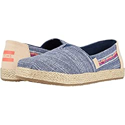TOMS Kids Girl's Alpargata (Little Kid/Big Kid) Navy Rugged Chambray/Rope 12 M US Little Kid