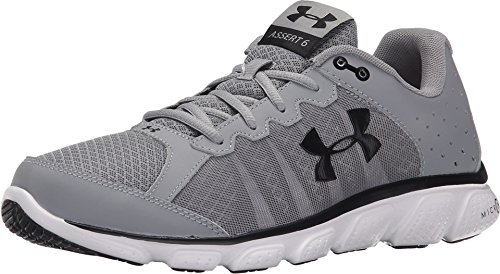 Under Armour Men's Micro G Assert 6, Steel/White/Black, 12 D(M) US