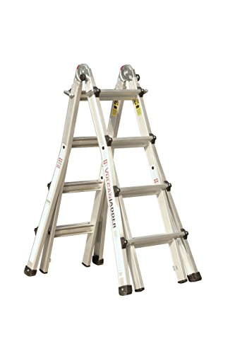 Vulcan Ladder USA 3600735401986540 Stepladder Multi-Task Alu 17Ft 17' MT