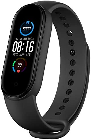 """AEE Technology Newest Mi Band 5 Health & Fitness Tracker Waterproof Exercise Band Activity Tracker, Full Clour AMOLED 1.1"""" Touch Screen, Sports Watch"""