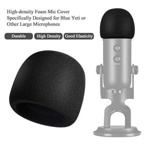 YOTTO-Microphone-Pop-Filter-For-Blue-Yeti-and-Any-Other-MicrophoneDual-Layered-Wind-Pop-Screen-With-360Gooseneck-Mic-Cover-Foam-Windscreen-for-Blue-YetiYeti-Pro-Condenser-Microphone2-in-1-Pack