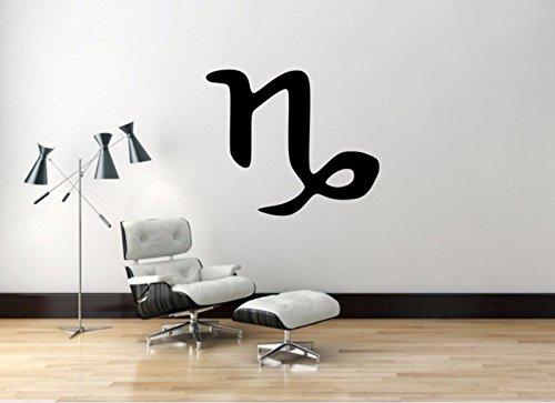 Capricorn Sign Decal, Capricorn Zodiac Wall Sticker, Zodiac Symbol Wall Décor