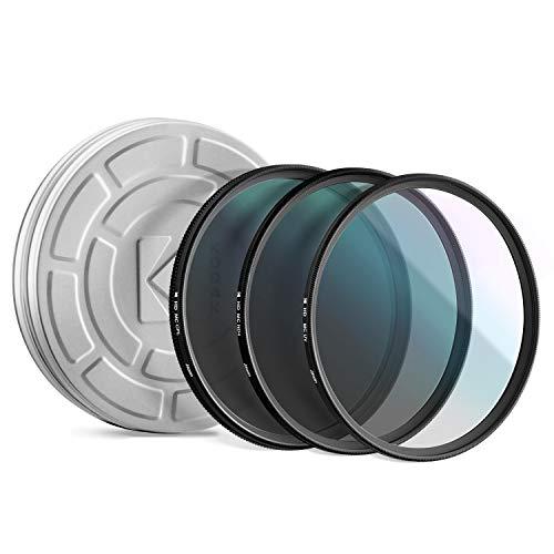 KODAK-77mm-Filter-Set-Pack-of-3-Premium-UV-CPL-ND4-Filters-for-Various-Photo-Enhancing-Effects-Absorb-Atmospheric-Haze-Reduce-Glare-Prevent-Overexposure-Slim-Multi-Coated-Glass-Mini-Guide