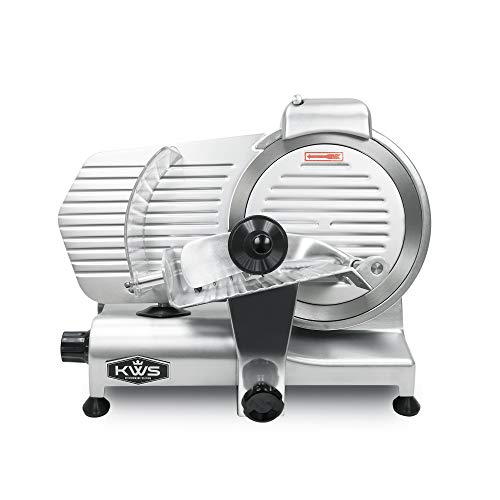 KWS-Commercial-320W-Electric-Meat-Slicer-10-Frozen-Meat-Deli-Slicer-Coffee-Shoprestaurant-and-Home-Use-Low-Noises-Stainless-Steel-Blade-Silver
