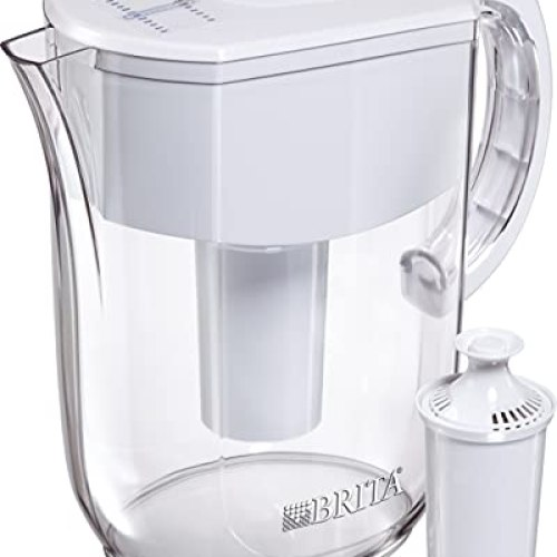 Brita Standard Everyday Water Filter Pitcher, White, Large 10 Cup, 1 Count