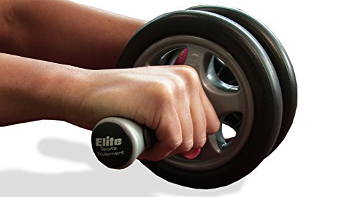Elite Sportz Equipment Ab Wheel Rollers - Our Ab Exercise Wheels are Sturdy, Smooth Rolling, and has Non- Slip Handles (DUAL WHEEL)