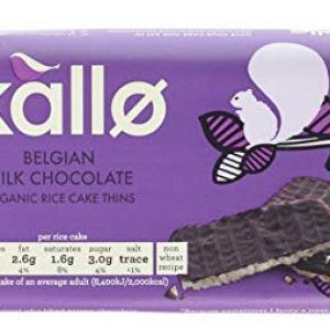 Kallo Organic Milk Chocolate Rice Cake Thins 90 g (Pack of 4) 41uu7kLpcwL