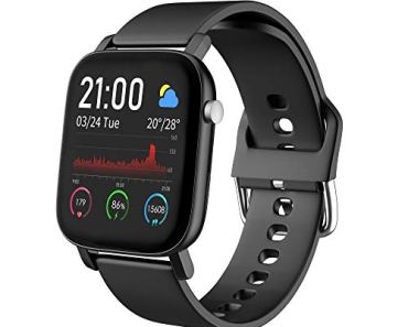 AQFIT W11 Smartwatch IP68 Waterproof Fitness Tracker | 1.4″ Full Touch Screen Display | Upto 10 Days Battery Life | 4.2 Bluetooth | for Men and Women (Black)
