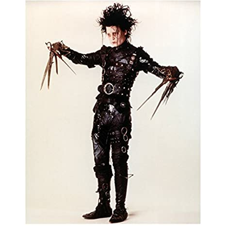 Johnny Depp 8x10 Photo Edward Scissorhands Leather Metal Fasteners Arms Extended The Sides Full Body Kn At Amazons Entertainment Collectibles Store